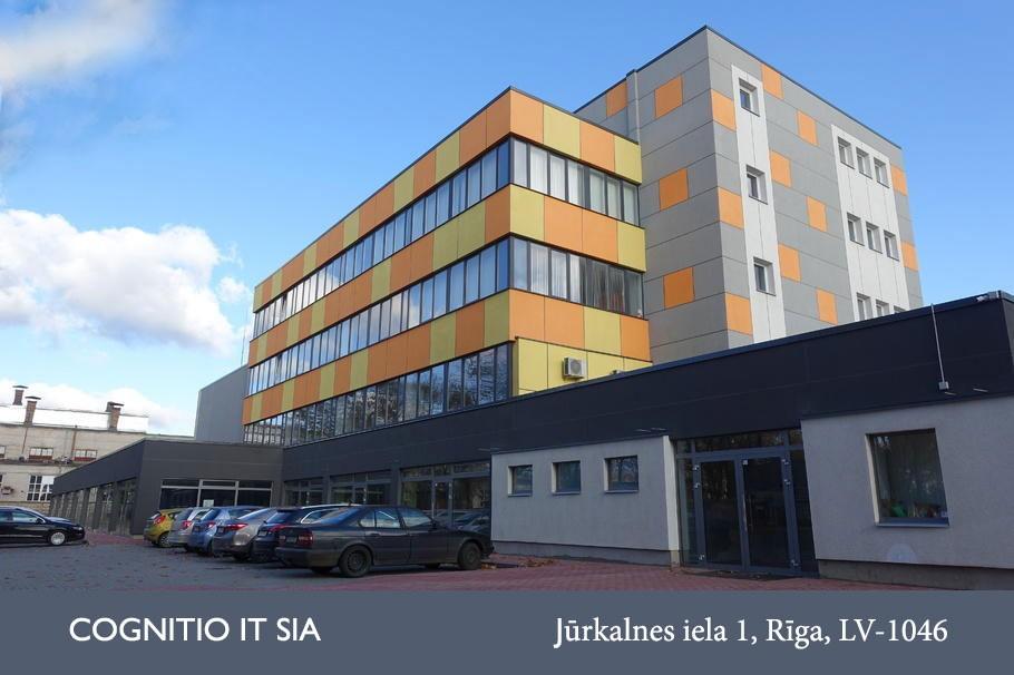 COGNITIO IT birojs Jūrkalnes iela 1, Rīga